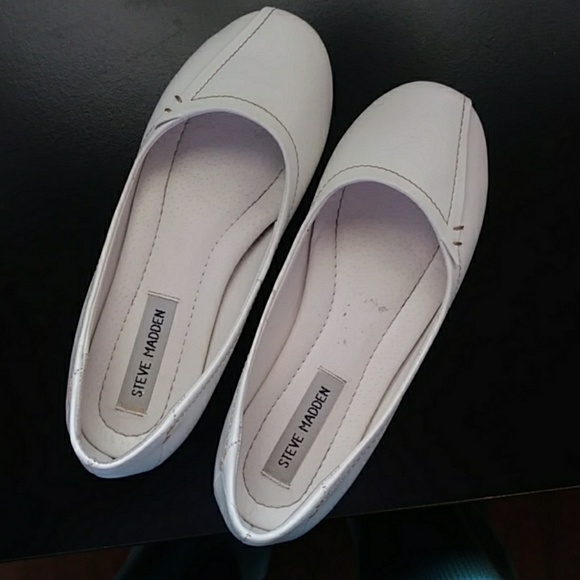 Steve Madden Shoes - Steve Madden white leather ballet flats 7 EUC